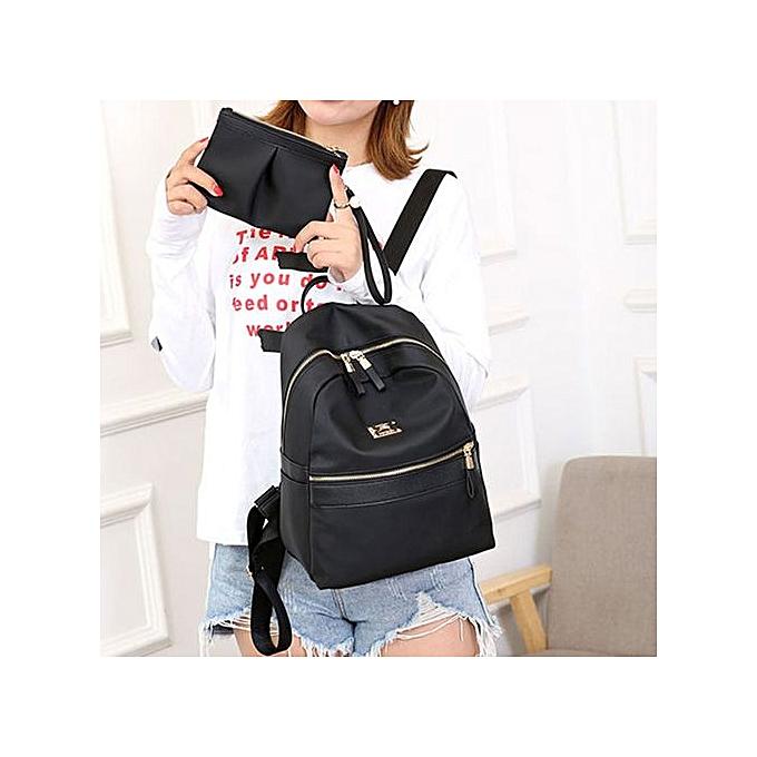 Generic femmes mode Two Piece Set Solid Shoulder sac sac à dos Handsac Pruse Zipper sac à prix pas cher
