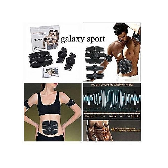 Smart fitness 6 pack stimulator ems abdominaux biceps for Appareil fitness maison