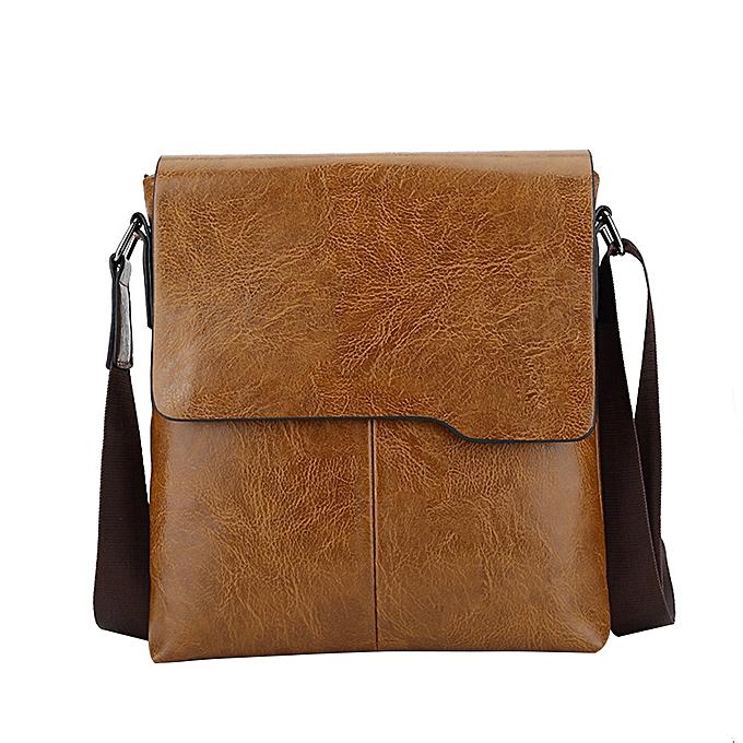 Fashion jiahsyc store Famous Brand New Fashion Man Leather Messenger Bag Male Cross Body Shoulder bag-Khaki à prix pas cher