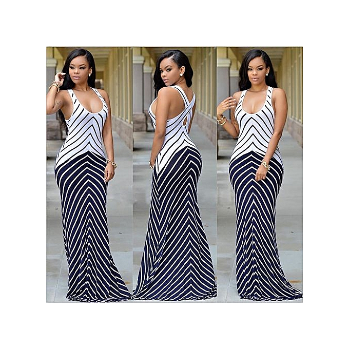 GeneAfrica Nigerian Sleeveless Strap Maxi Dresses Evening Gown à prix pas cher
