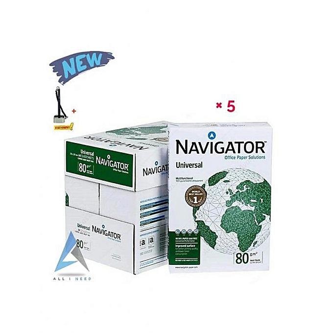 Navigator Packet de 5 Ram photocopie papier 80G A4 à prix pas cher