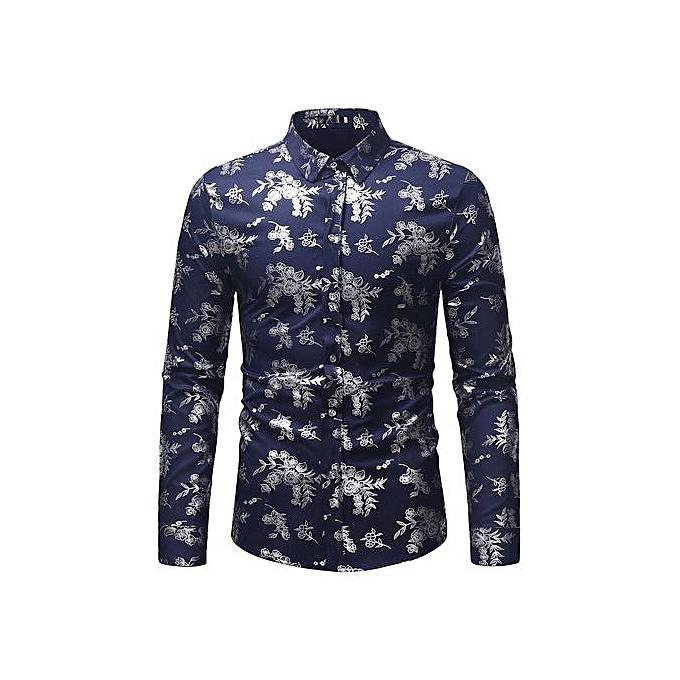 AFankara Designer Casual Shirts For Men - Navy bleu à prix pas cher