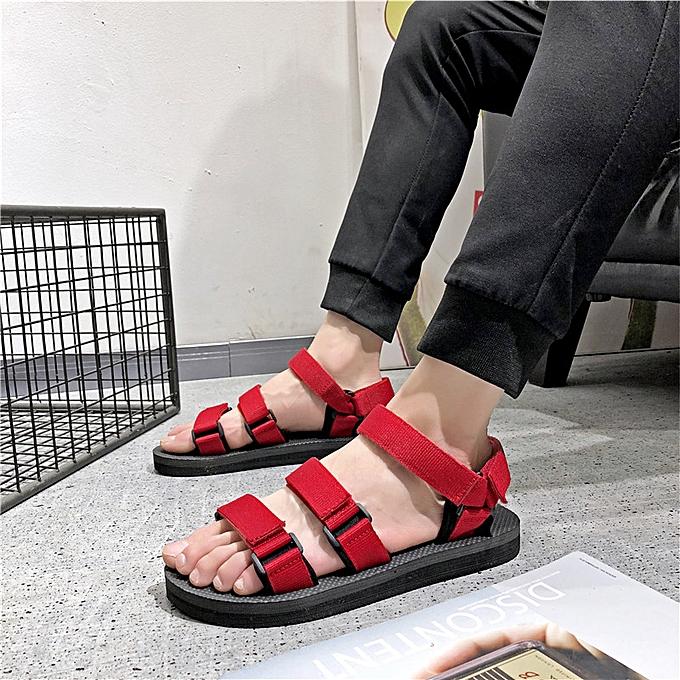 Fashion Men's webbing non-slip beach sandals-rouge à prix pas cher    Jumia Maroc