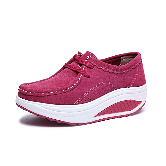 Fashion femmes Casual chaussures Athletic Shook chaussures Round Toe Lace Up chaussures Soft Sole chaussures à prix pas cher    Jumia Maroc