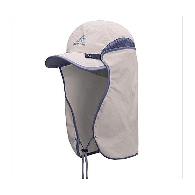AONIJIE Outdoor Sports Cap E4089 Running Mountaineering Sun Hat Men femmes UV-prougeection Sunshade Cap Adjustable Quick Dry Hat(Khaki) à prix pas cher