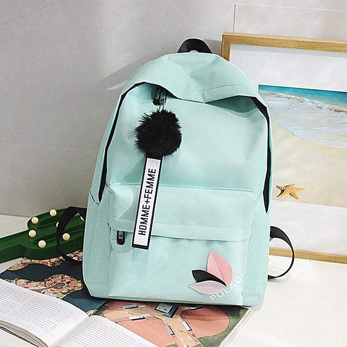 mode Tcetoctre mode Neutral sac à dos sac Shoulder toile School Girls Boy Handsac vert-vert à prix pas cher