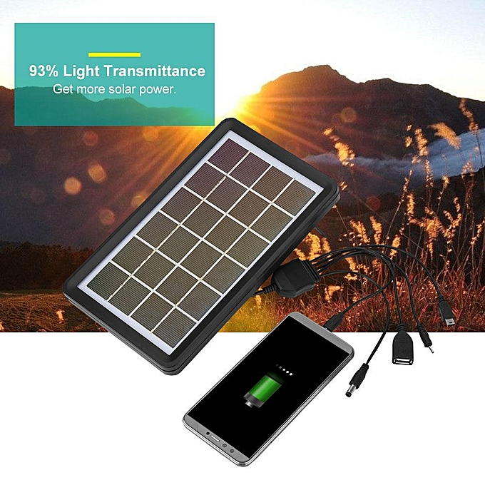 Other New Portable 5-in-1 Cable Poly Silicon Solar Cell 93% Light Transmittance 18% Conversion Rate Solar Board à prix pas cher