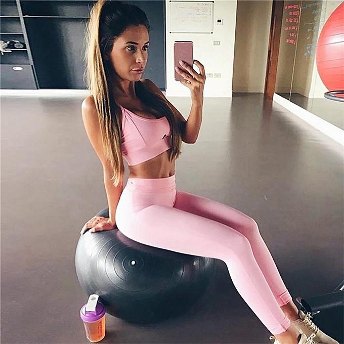 Fashion (Xiuxingzi) femmes Hot Style New Workout Yoga Set Tank Tops à prix pas cher