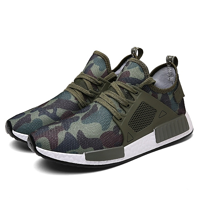 Other Stylish Men's Large Taille Breathable Camouflage Mesh chaussures Sports chaussures -Army vert à prix pas cher