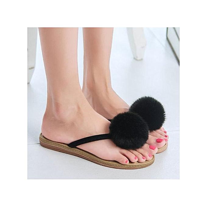 Fashion Jiahsyc Store femmes Summer Sandals Slippers Leisure Soft Flip Flops Beach chaussures BK 38-noir à prix pas cher