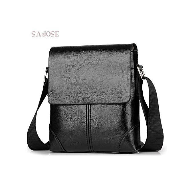 Other Men Crossbody Bag Fashion Leather Shoulder Bag Casual noir Business Mens Hand bag For Phone High Quality Travel Drop Shipping(noir) à prix pas cher