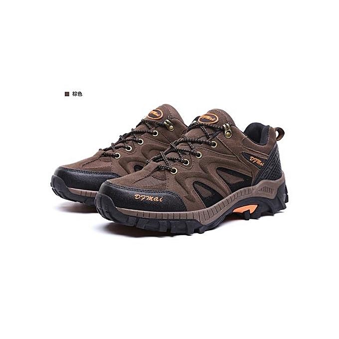 Fashion   Hiking Shoes Nubuck Climbing Shoes Waterproof Waterproof Waterproof Outdoor Trekking Shoes Genuine Leather Mountain Shoes -Marron  à prix pas cher  | Jumia Maroc 34a7a7