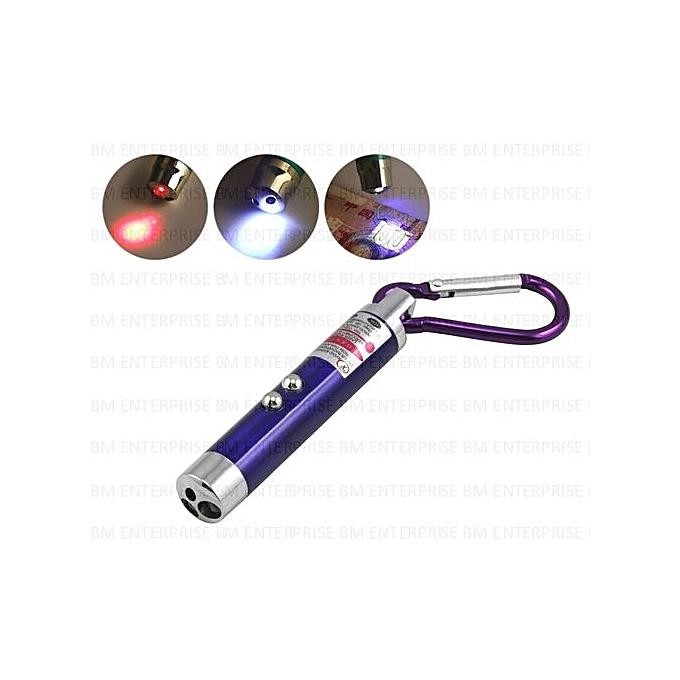 Autre 3 En 1 Pointeur Laser Lampe De Poche Led Lampe Uv
