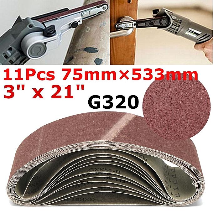 UNIVERSAL 252302130070 122003917444 75mm X 533mm Sanding Belts 320 Mixed Grit Heavy Duty à prix pas cher