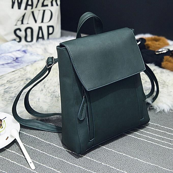 Fashion blicool travel wallet femmes Girl Leather Rucksack Shoulder Bookwallets School wallet Satchel Travel Backpack-vert à prix pas cher