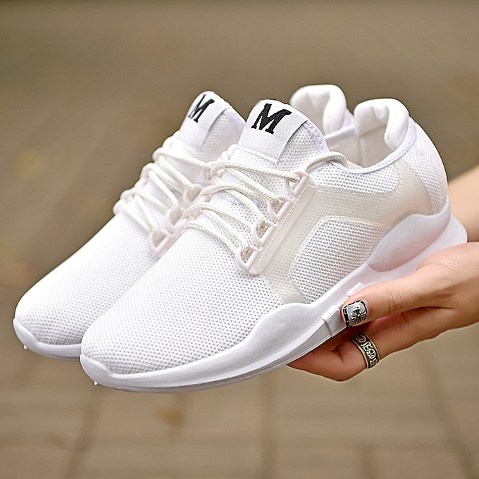 Fashion Breathable casual sports chaussures for men and femmes running chaussures blanc à prix pas cher    Jumia Maroc