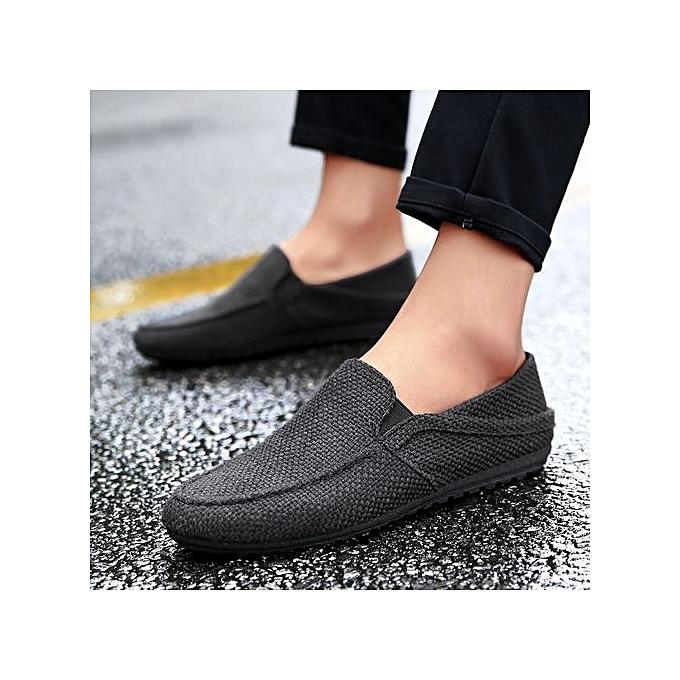 HT  s Slip-On Canvas Flats-Black Flats-Black Canvas à prix pas cher  | Jumia Maroc 1ac5cf