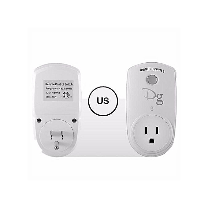 UNIVERSAL Smart Home RF Wireless Remote Control Socket Power Plug Controller EU US UK AU Sliver à prix pas cher