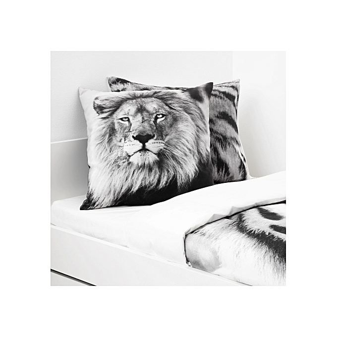 Ikea Coussin lion gris, 50x50 cm à prix pas cher