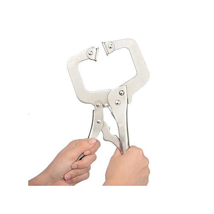 Autre Multi-functional Carbon Steel C-type Flat Locking Grip Vise Pliers C Clamp Wear-Resistant Vise Grip Clam Hand Tools 1pc( 14inch) à prix pas cher