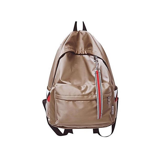 nouveauorldline Unisex Warterproof Anti Warter sac à dos Double Shoulder sac Zipper sac-Khaki à prix pas cher
