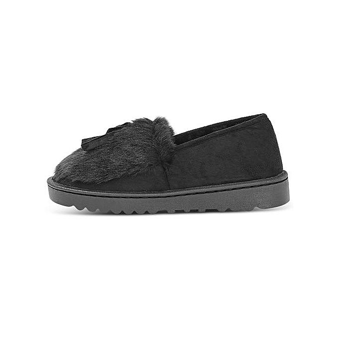Fashion Unisex Slip-on Home Cotton Slippers Winter Warm Warm Winter Solid ColorChaussure s-BLACK à prix pas cher    Jumia Maroc 2da931
