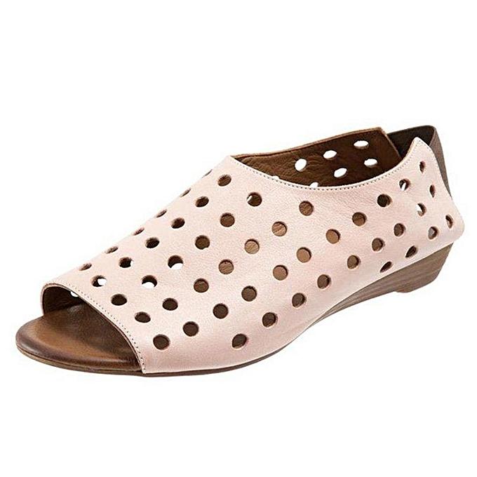mode (Xiuxingzi) Wohommes Ladies mode Open Toe Wedges Elastic Sandals Décontracté Rohomme chaussures à prix pas cher