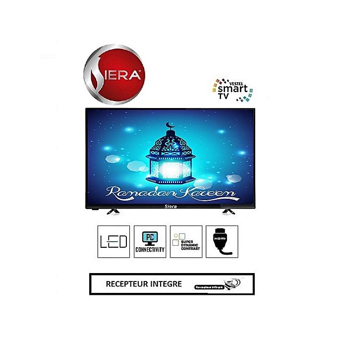siera 43 full hd led tv smart avec r cepteur et wifi integr 43fhdn5s2 noir prix pas cher. Black Bedroom Furniture Sets. Home Design Ideas