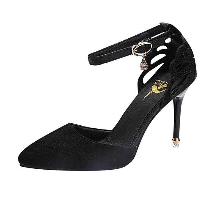 Fashion WoHommes    Ankle Thin High Heels Block Block Heels Pointed Toe Party Singel Shoes - à prix pas cher    Jumia Maroc de0176