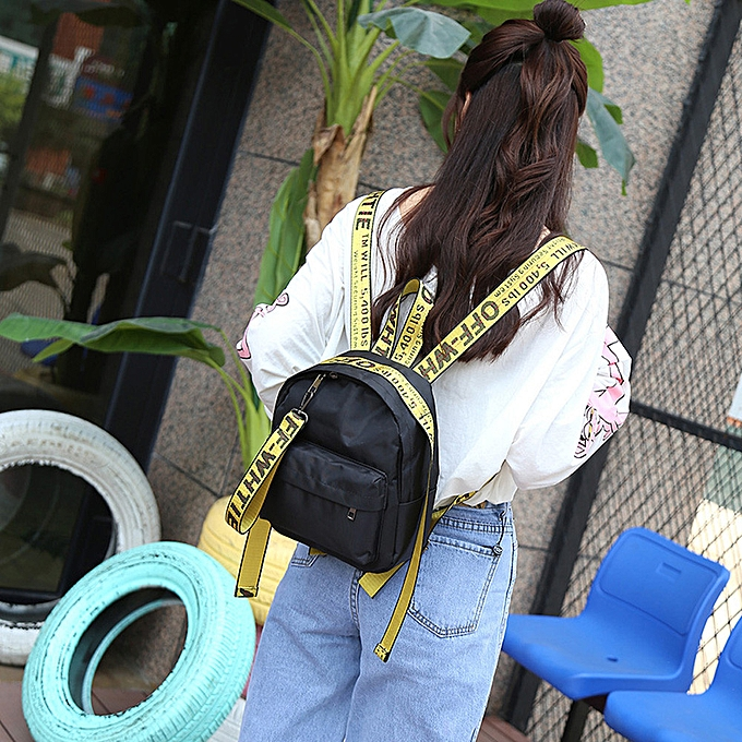 OEM femmes Girl Printed Letters Travel Backpack School Bag Shoulder Bag Handbag YE à prix pas cher