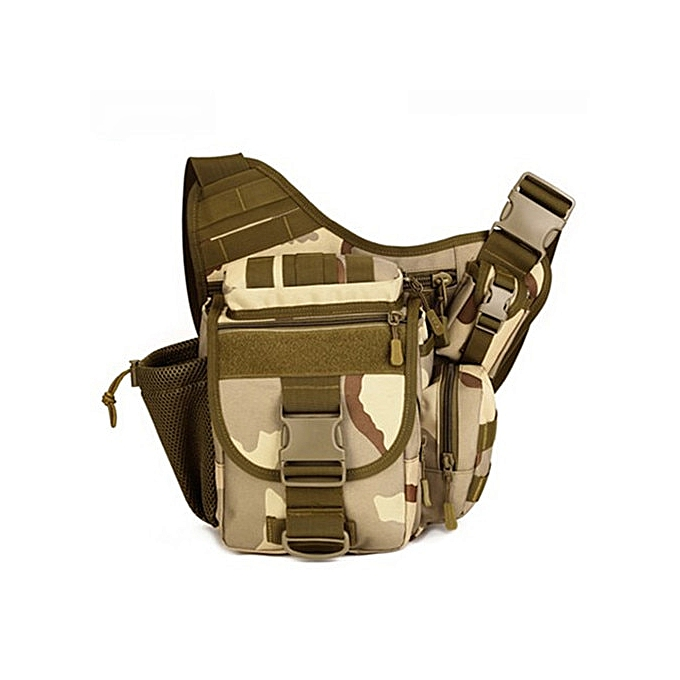 Other Prougeector Plus DSLR Camera Bag  Messenger Men Handbag Casual Saddle Camouflage Shoulder Bags High Quality Nylon Pack D548(Three sand camouflag) à prix pas cher