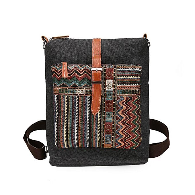 mode femmes toile Multifunction Vintage grand capacité  Shoulder sac Crossboby sac sac à dos à prix pas cher