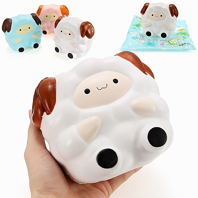 UNIVERSAL Squishy Jumbo Sheep 13cm Slow Rising With Packaging Collection Gift Decor Soft Squeeze Toy-blanc à prix pas cher