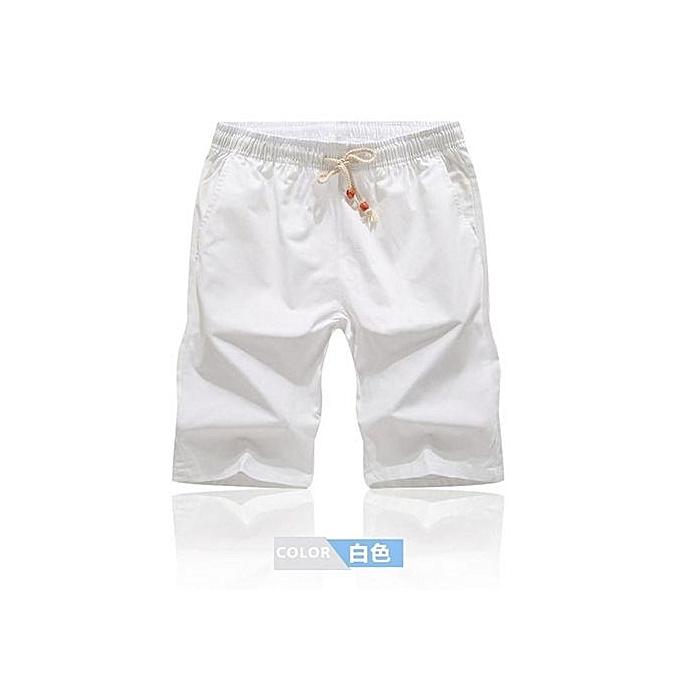 Fashion blanc Men Short Hot Fashion Men Short Pants Summer Casual Men Shorts Solid Elastic Shorts à prix pas cher