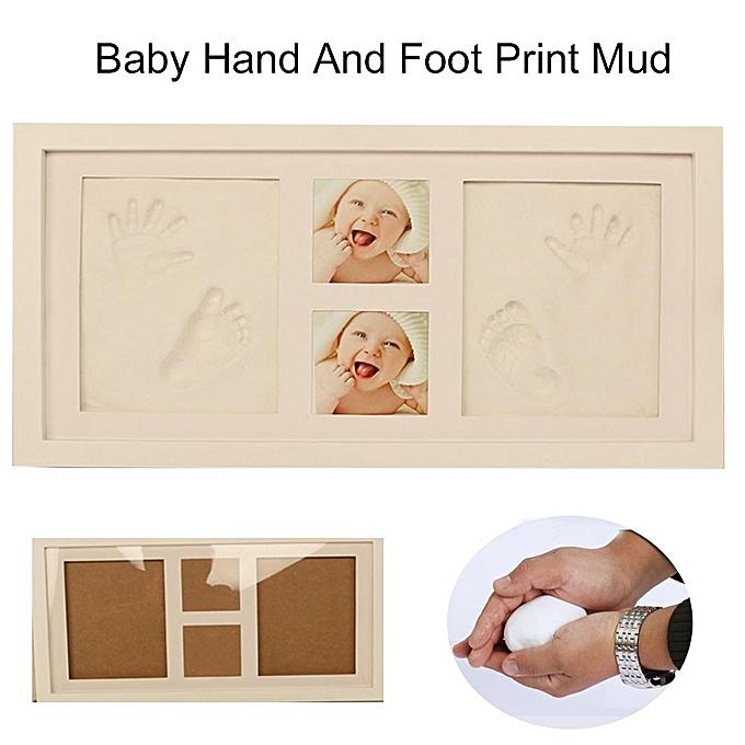 OEM Cadeau de moule de main de main d'infanterie d'empreinte de bricolage de cadre en bois solide de couverture de photo de cadre de photo à prix pas cher