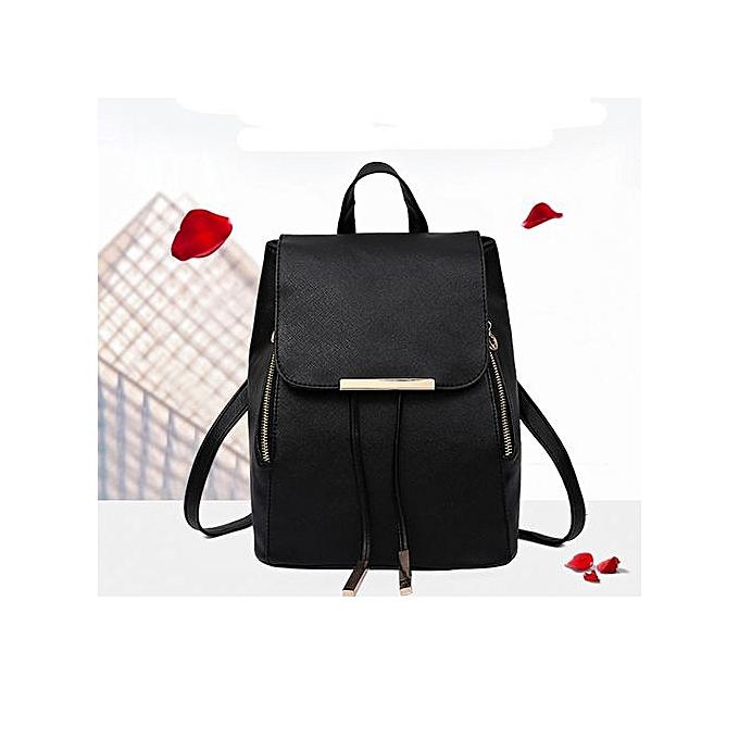 mode Xiuxingzi_2Pcs mode femmes Girls cuir sac à dos voyage School Handsac Clutch sac BK à prix pas cher