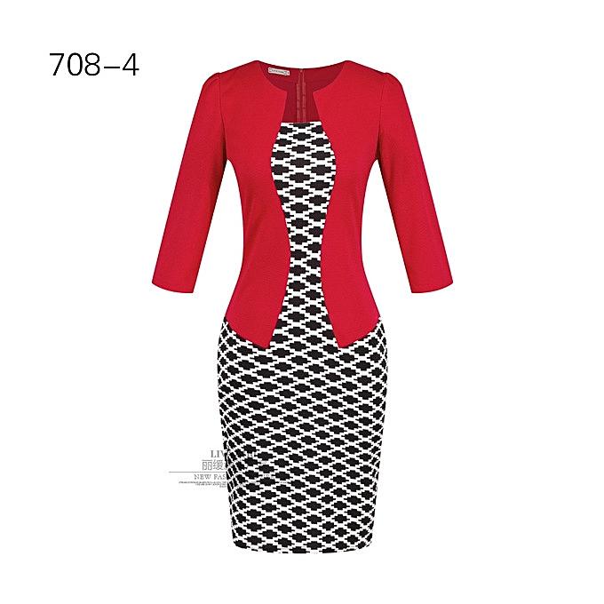 OEM nouveau style femmes& 039;s professional sac hip pencil mode comfortable Robe-4 à prix pas cher