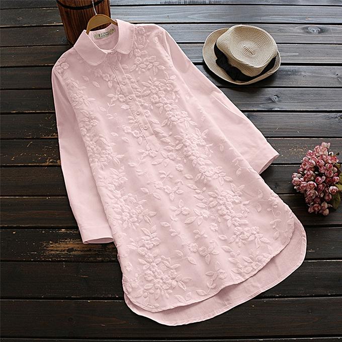 Zanzea Robe longue à hommeches courtes à grande broderie florale pour femmes à prix pas cher