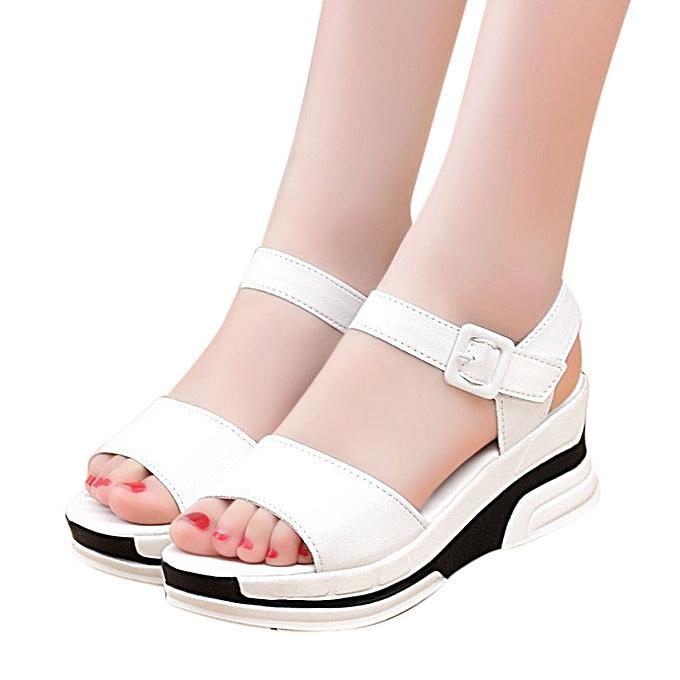 Générique Tcetoctre WoHommes 's Summer Summer 's Sandals Shoes Peep-toe Low Shoes Roman Sandals   Flip Flops- White à prix pas cher  | Jumia Maroc 8d8f15