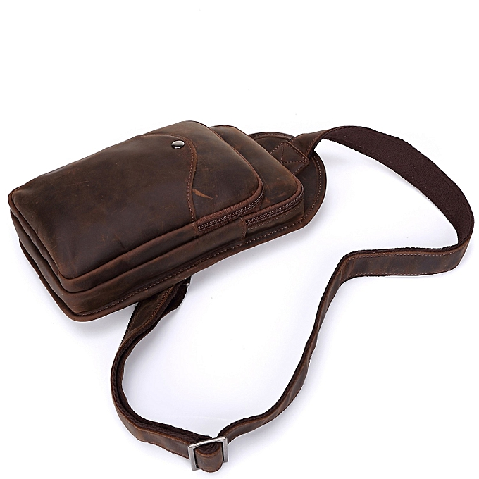 Fashion (Xiuxingzi)  Crazy Horse Leather Bag Men Retro Leather Messenger Bag à prix pas cher