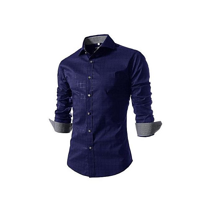 Other Causal Men's Wear Vogue Classic Print Shirt à prix pas cher