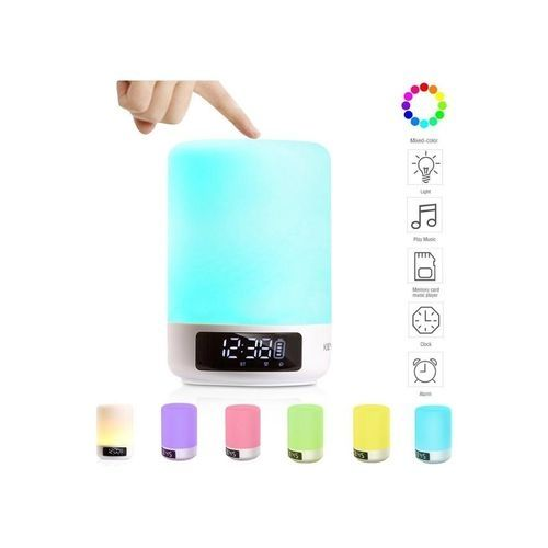 keynice lampe de chevet tactile multicouleurs portable sans fil bluetooth blanc acheter en. Black Bedroom Furniture Sets. Home Design Ideas