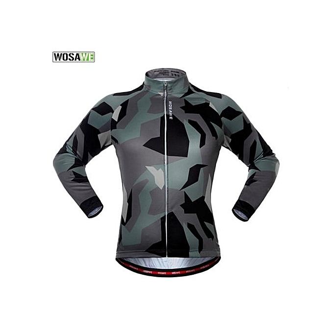 Generic UJ WOSAWE Fashion Camouflage Windproof Long Sleeve Sports Riding Cycling Jacket-Camouflage à prix pas cher