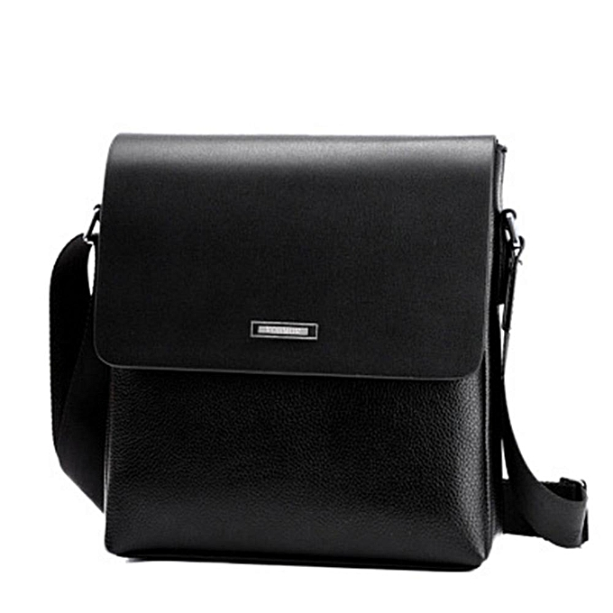 Other Vintage Crossbody IPad Laptop Briefcase Men Leather Bag 2019 New Fashion Design Men Shoulder Bags Casual Business Messenger Bag(noir) à prix pas cher