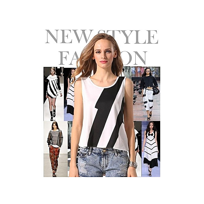 Sunshine ACEVOG Stylish Ladies femmes Casual O-Neck Sleeveless Patchwork Tank Tops à prix pas cher
