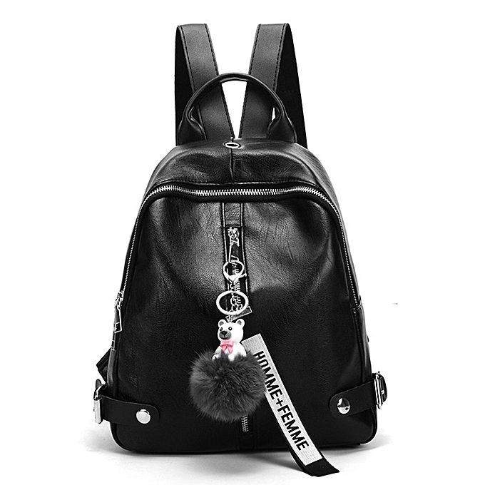 Generic Leather Shoulder Bag Fashion Casual Student femmes Backpack à prix pas cher