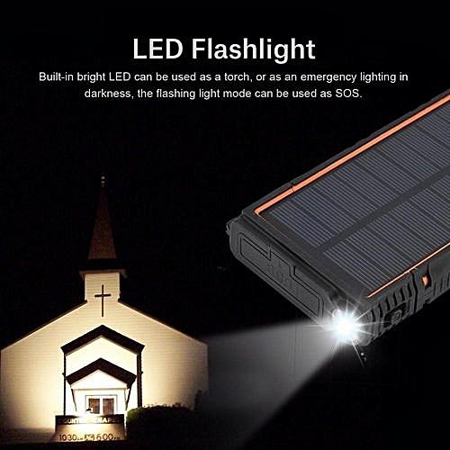 10000mAh LED Dual USB Port Solar Panel Power Bank Case Charger DIY Kits Box
