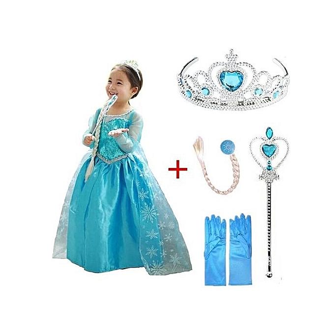 b14a46e9246e7 Générique ROBE de princesse Elsa La reine des neiges ET 4 ...