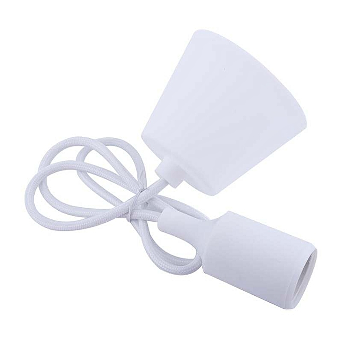 OEM New E27 Modern Home Silicone Ceiling Lamp Holder Light Bulb Lighting Components Pendant-blanc à prix pas cher