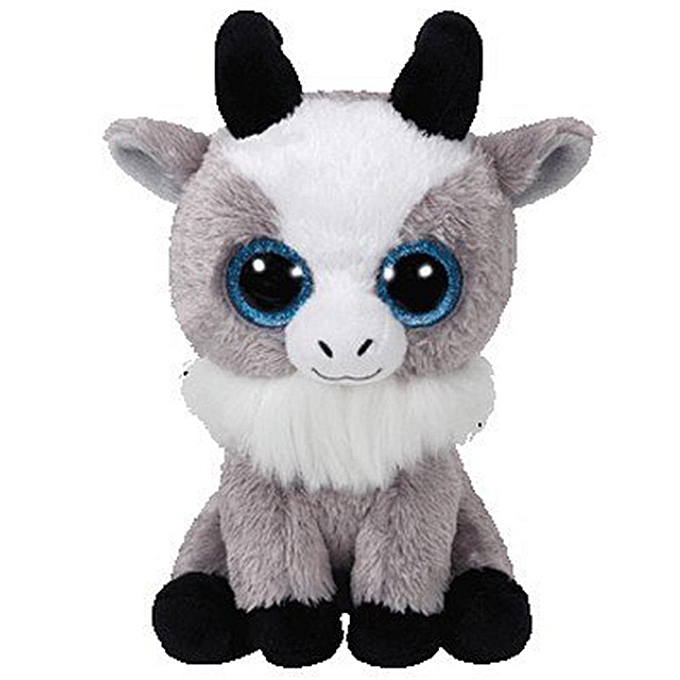 Autre Ty Beanie Boos 6  15cm Dog Bird Fish Bunny Penguin Raccoon Lamb Plush Big eyed Stuffed Animal Doll Toy with Heart Tag(Gabby Goat) à prix pas cher